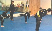 Students in Martial Arts training class